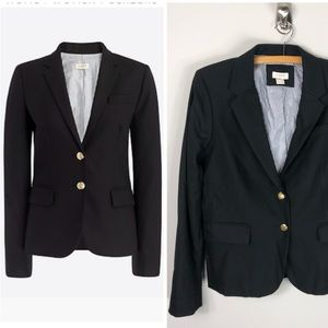 J. Crew Schoolboy Blazer Black Wool Blend Jacket